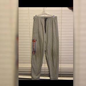 Grey Wrestling Sweatpants